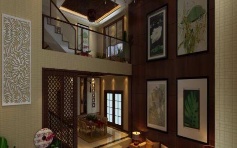 客厅照片墙东南亚风格效果图