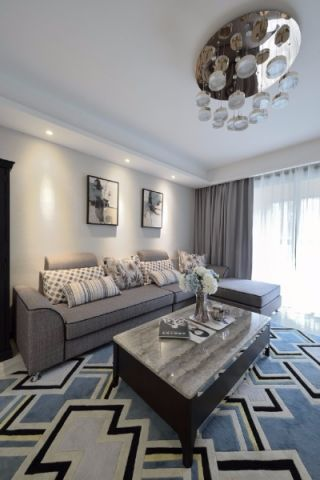 华夏苑140平米简约居风格三居室装修效果图