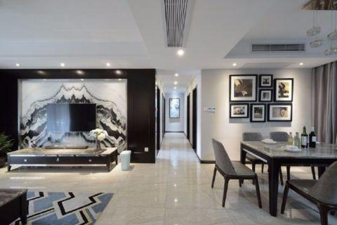 客厅走廊简欧风格装修设计图片