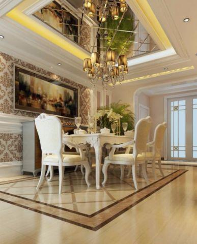 金泰华府小区138平米简欧风格三居室装修效果图