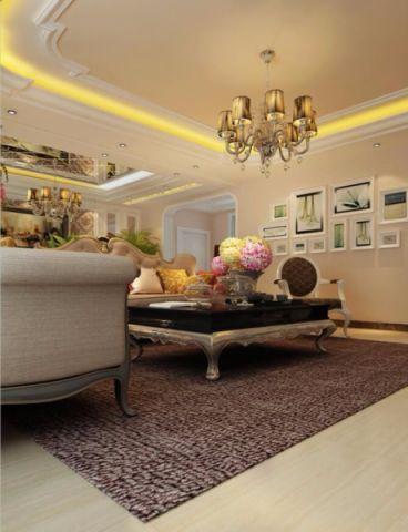 客厅照片墙简欧风格装修图片