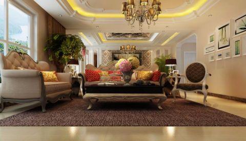 客厅细节简欧风格装潢图片