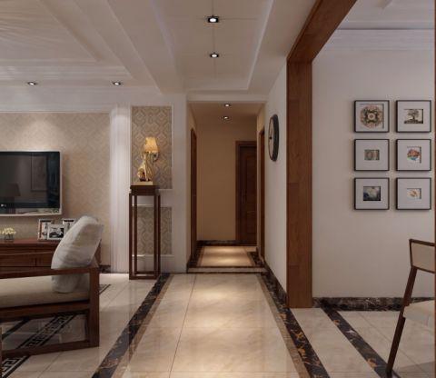 客厅走廊现代中式风格效果图