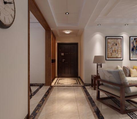 玄关白色走廊现代中式风格装潢效果图