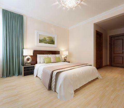 卧室咖啡色床现代中式风格装潢图片