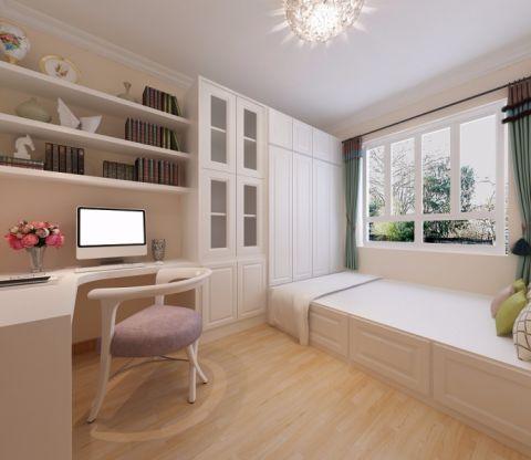 卧室白色榻榻米现代中式风格装潢设计图片