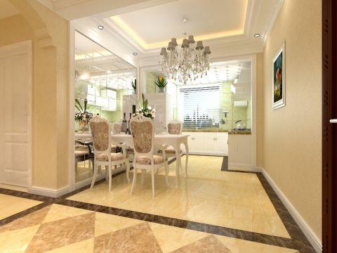 厨房吧台简欧风格装饰设计图片