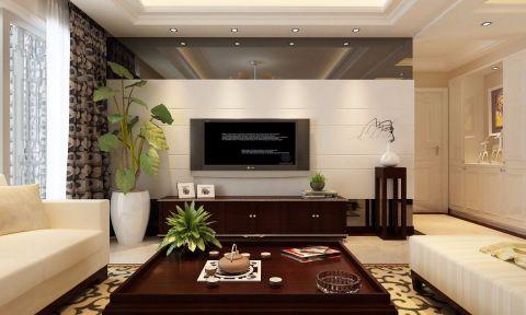 新中式风格三居室装修效果图