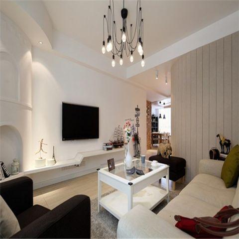 万科城市之光99平北欧风格三居室装修效果图