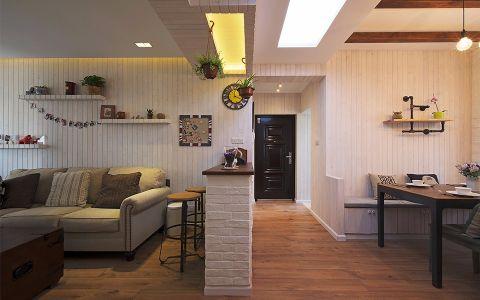 客厅隔断美式风格装修设计图片