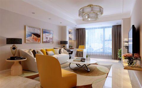 保利香槟112平米现代简约风格三居室装修效果图