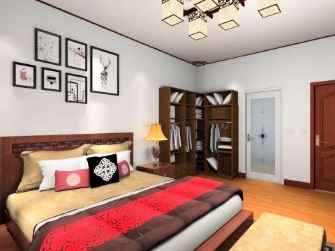 卧室咖啡色细节中式风格装修图片