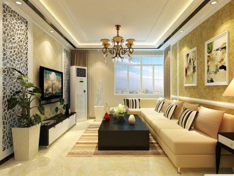 客厅窗台现代简约风格装饰设计图片
