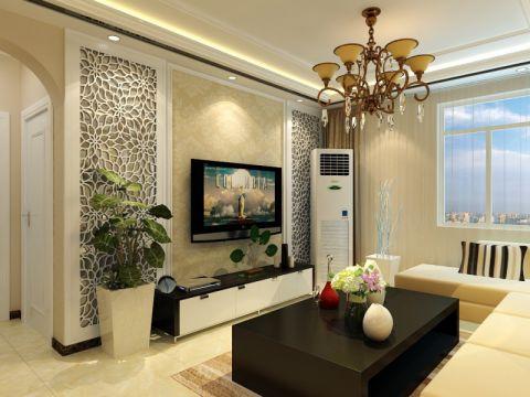 客厅细节现代简约风格装修效果图
