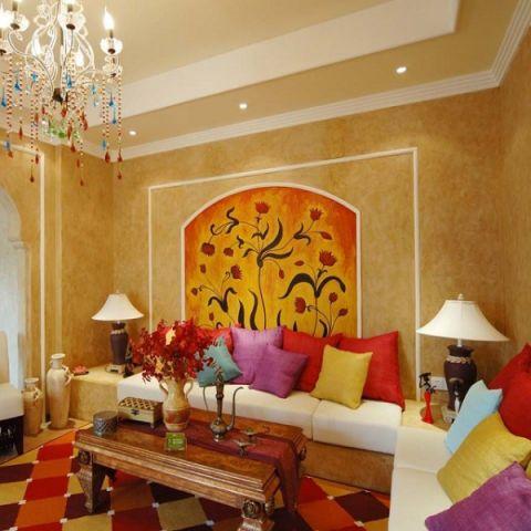 客厅细节地中海风格装修效果图