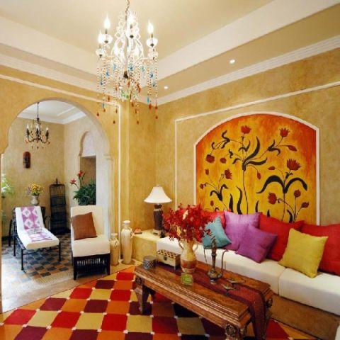 客厅细节地中海风格装饰效果图
