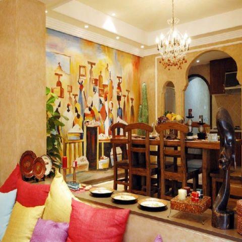 餐厅细节地中海风格装潢效果图
