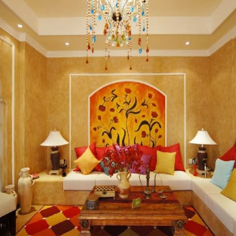 客厅细节地中海风格装修图片
