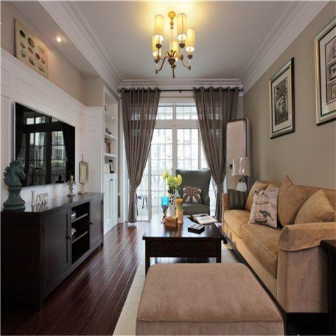 华著中城148平美式风格三居室装修效果图