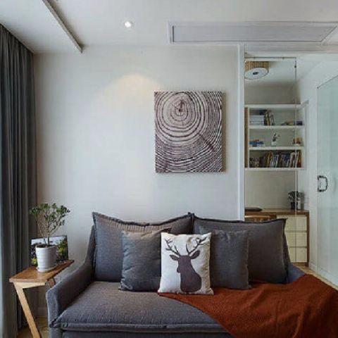 客厅细节日式风格装饰图片