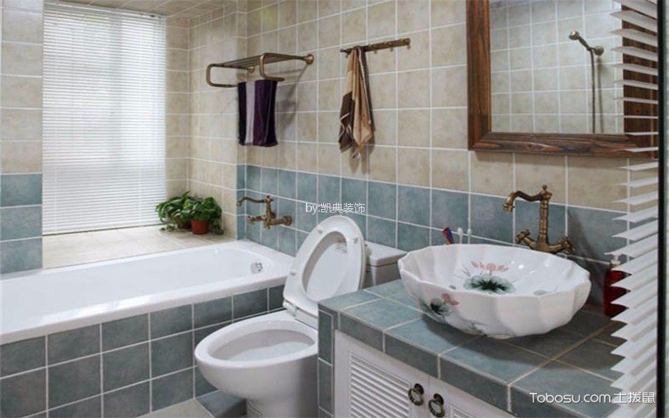 卫生间 背景墙_七彩星城幸福里43平米美式风格两室一厅一卫装修小骨头