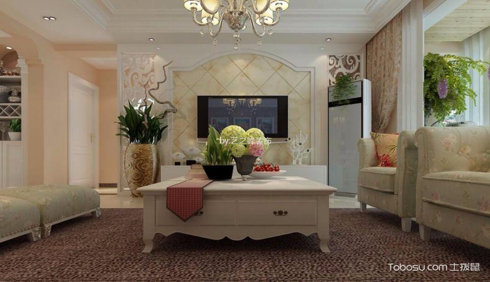 沂河观邸小区120平米现代风格三居室装修效果图