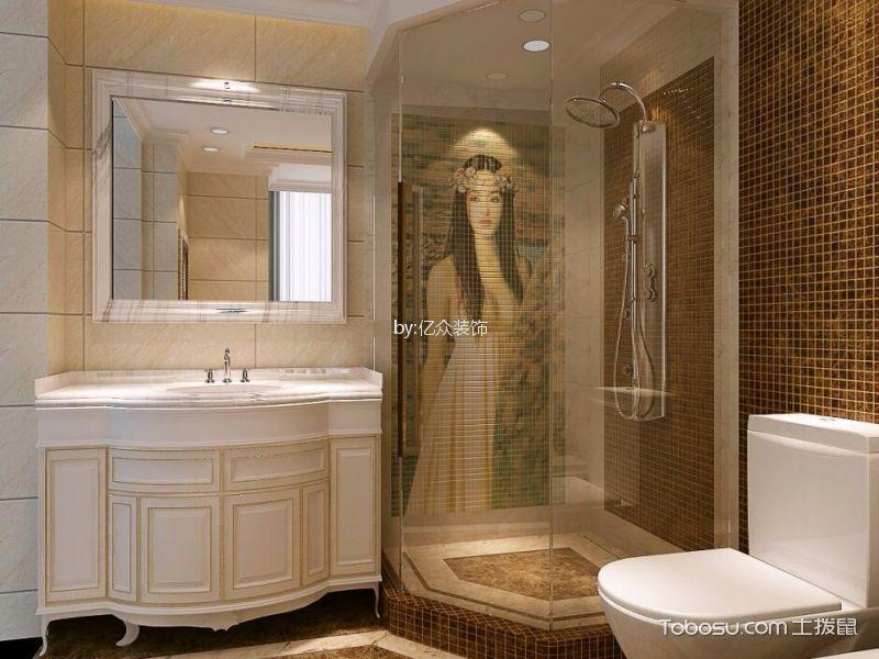 卫生间 细节_110平简欧风格三居室装修效果图