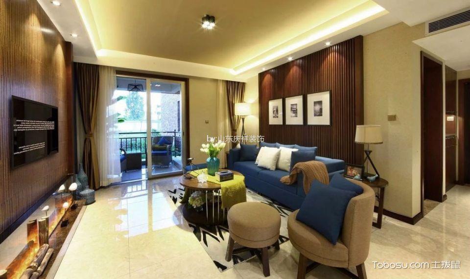 客厅 照片墙_现代简约风格110平米三室两厅新房装修效果图