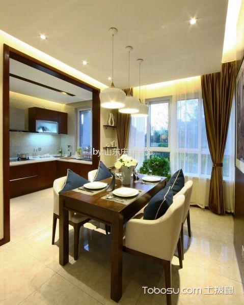 餐厅 餐桌_现代简约风格110平米三室两厅新房装修效果图