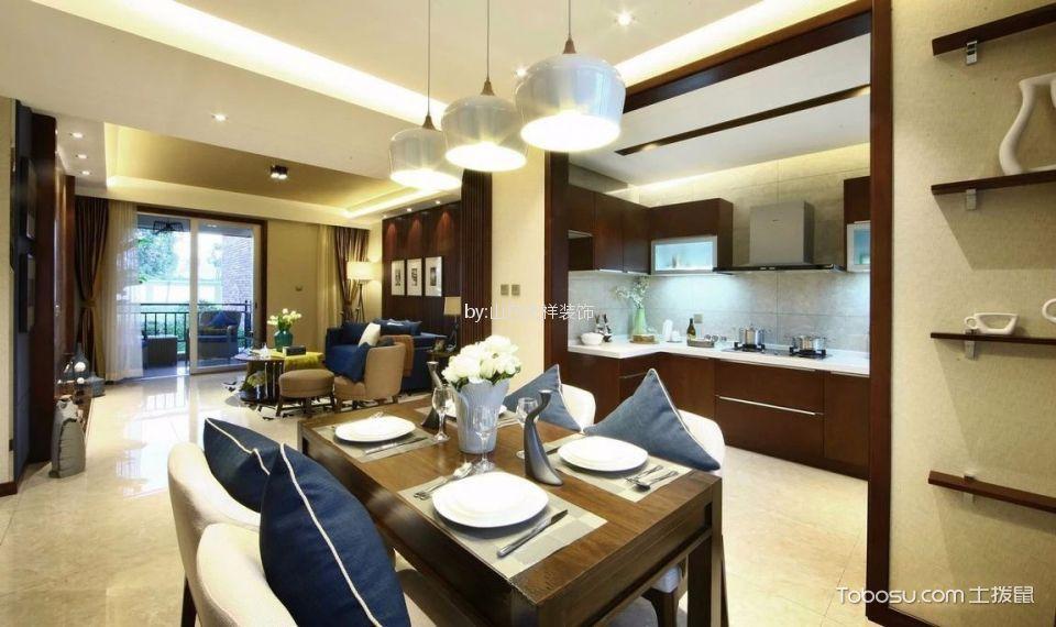 餐厅 地砖_现代简约风格110平米三室两厅新房装修效果图