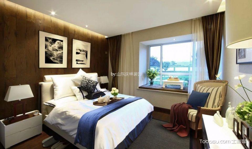 卧室 床_现代简约风格110平米三室两厅新房装修效果图