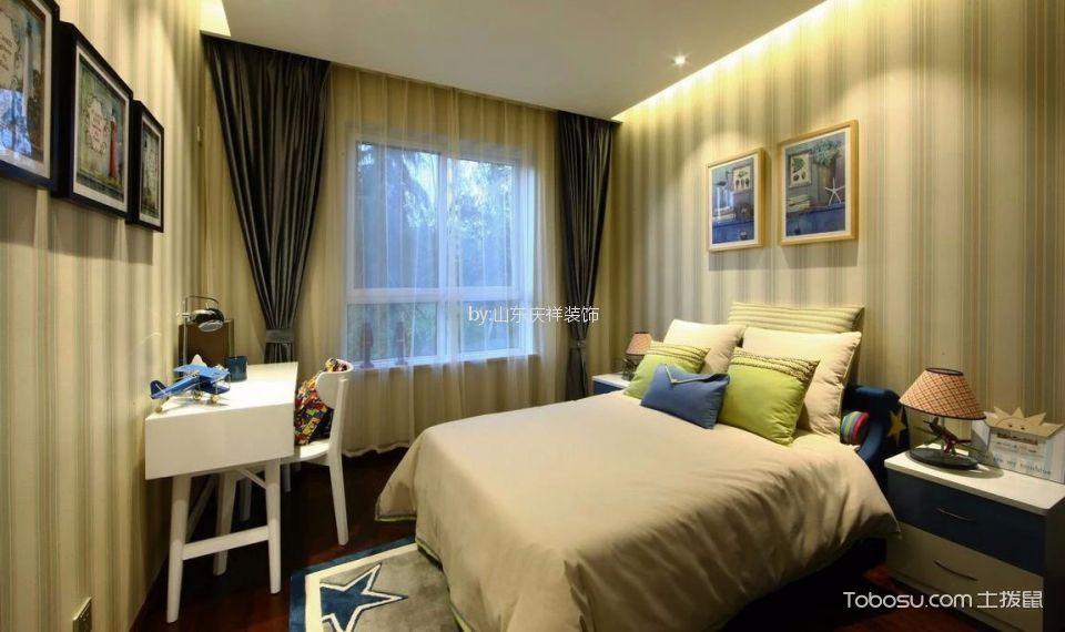 卧室 书桌_现代简约风格110平米三室两厅新房装修效果图