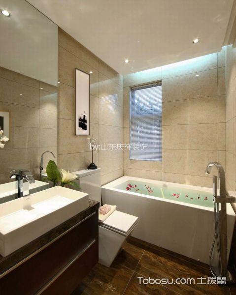 浴室 浴缸_现代简约风格110平米三室两厅新房装修效果图
