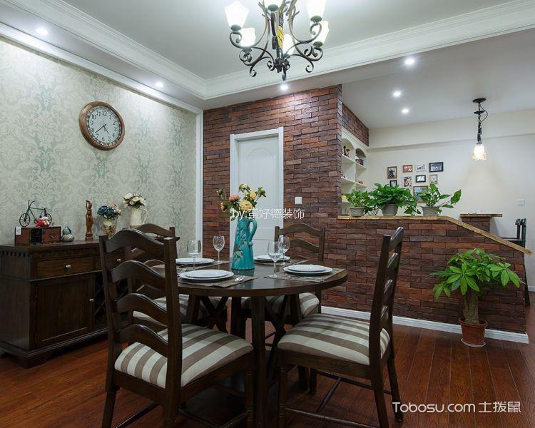 餐厅 餐桌_美式风格96平米三室两厅新房装修效果图