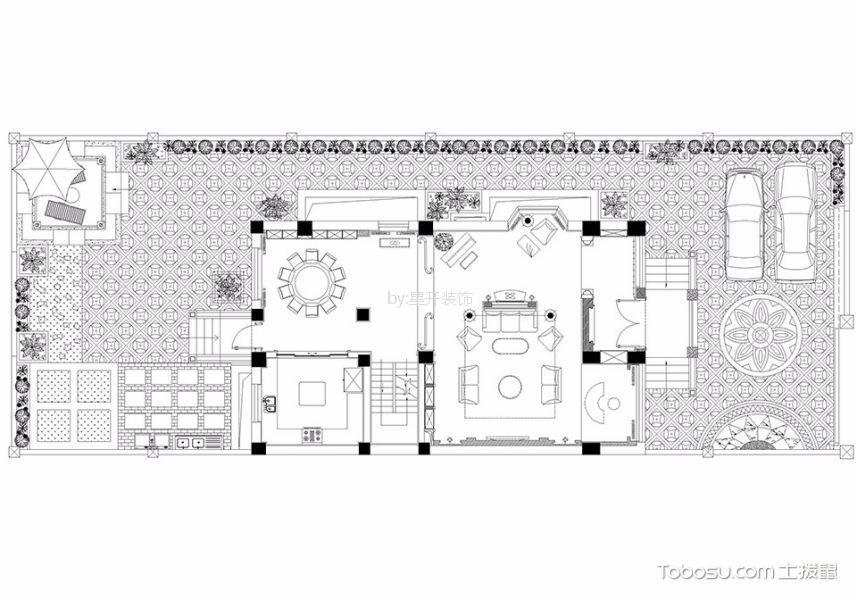 欧式风格340平米别墅室内装修效果图