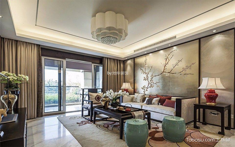 扬州120平米私宅新中式风格三居室装修效果图