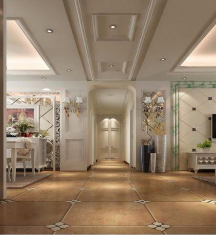 凤凰水城小区120平米欧式风格三居室装修效果图