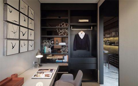 书房照片墙现代简约风格装潢设计图片