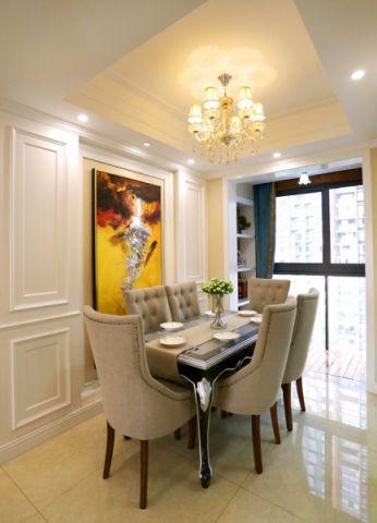 餐厅背景墙简欧风格装饰图片