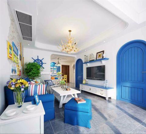 方圆经纬112平地中海风格三居室装修效果图