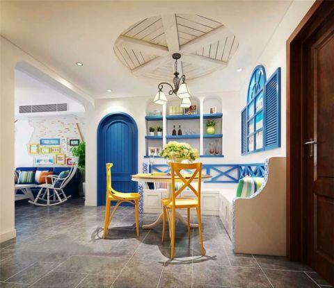 餐厅走廊地中海风格装修效果图
