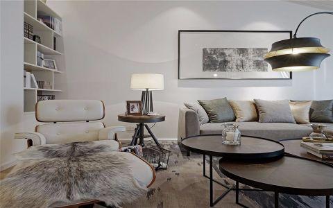 金沙泊岸164平现代简约四居室效果图