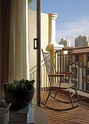 阳台细节现代简约风格效果图