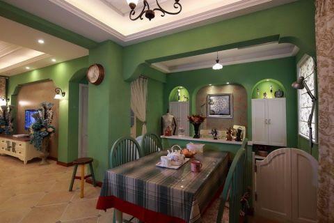 厨房米色榻榻米田园风格装潢效果图