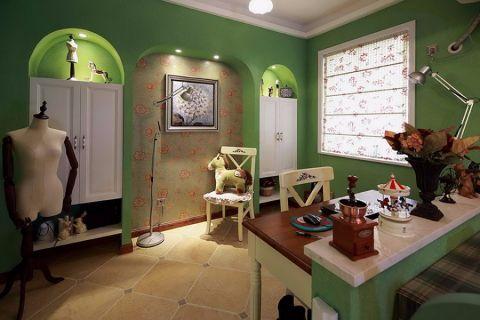客厅白色窗台田园风格装饰设计图片