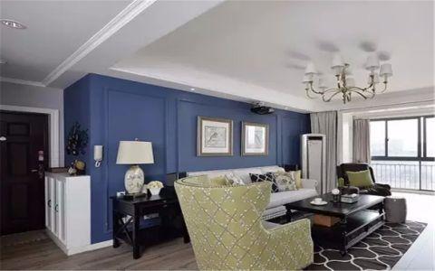 碧湖新村120平美式风格三居室装修效果图