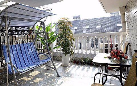 阳台白色细节现代简约风格装修设计图片
