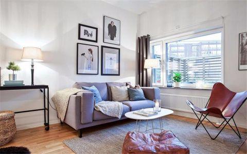 客厅白色照片墙现代风格效果图