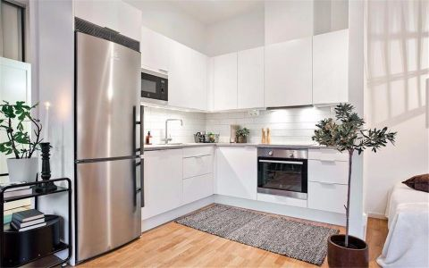 厨房白色橱柜现代风格装修效果图
