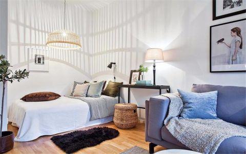 卧室白色背景墙现代风格装饰效果图